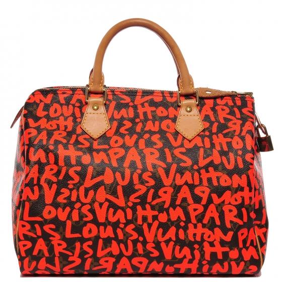 authenticating a limited edition monogram graffiti speedy 30 handbag